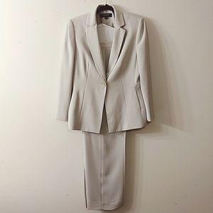 Kasper Two Piece Pant Suit, Size 12P